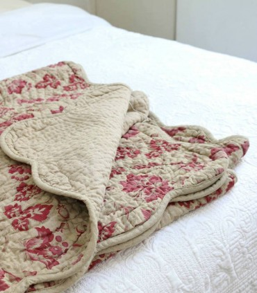 Colcha cama tipo bouti flores shabby chic