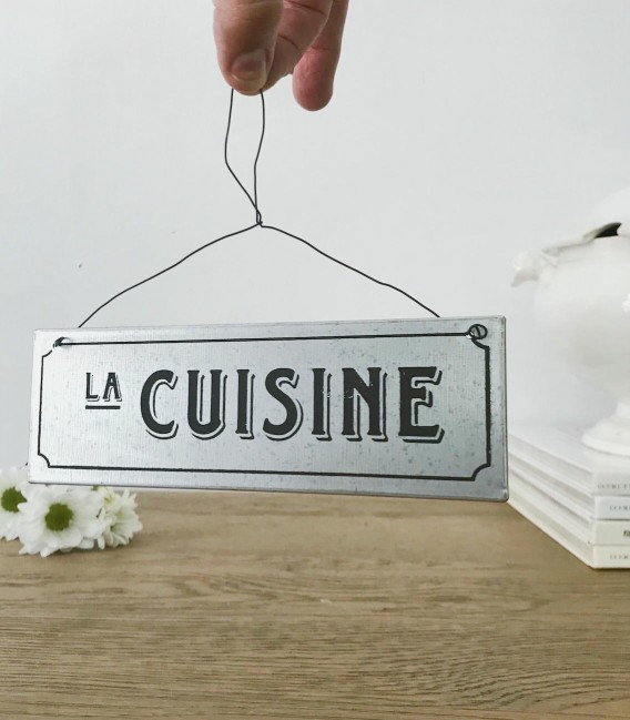 Placa metal La Cuisine