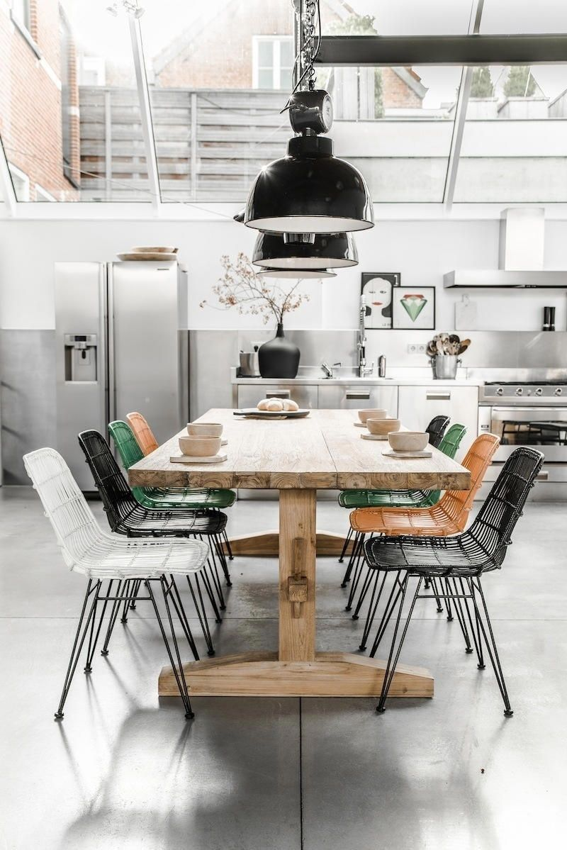 un comedor nordico con aire industrial ForComedor Nordico Industrial