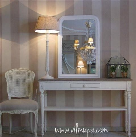 Muebles pintados en blanco yeso for Muebles decoracion online